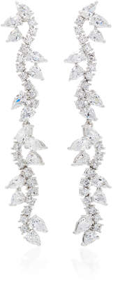 Fallon Silver-Plated Crystal Earrings