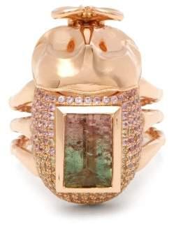 Daniela Villegas - Ombre Gold, Tourmaline, Sapphire & Peridots Ring - Womens - Gold Multi