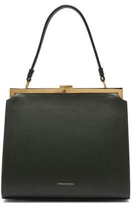 Mansur Gavriel Elegant Leather Bag - Womens - Dark Green