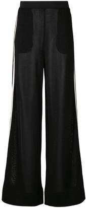 Roberto Collina sheer side stripe trousers