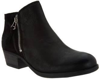 Miz Mooz Leather Ankle Boots w/ Zipper Detail - Bangkok