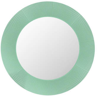 Kartell All Saints Round LED Mirror - Aquamarine Green