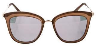 Le Specs Mirror Round Sunglasses