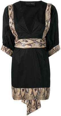 Christian Pellizzari snakeskin print dress