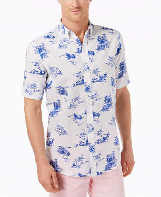 Club Room Men's Tropical-Print Shirt, Created for Macy's