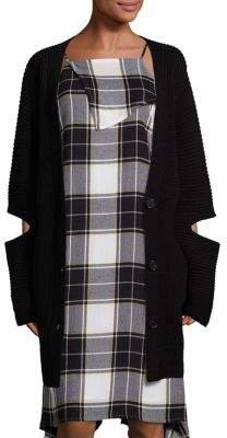 Public School Toni Cutout Rib-Knit Cardigan