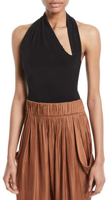 Halston Iconic Halter-Neck Sleeveless Bodysuit