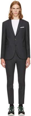 Neil Barrett Grey Gabardine Skinny Suit