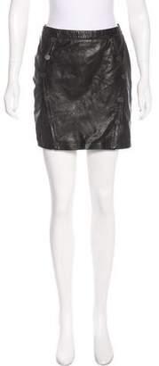 The Kooples Leather Mini Skirt