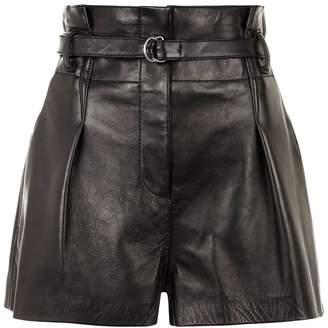 3.1 Phillip Lim Leather Origami Shorts