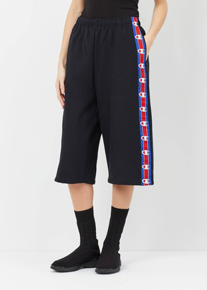 Vetements black champion shorts with tape $590 thestylecure.com