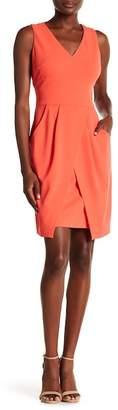 Donna Morgan Tulip Hem Crepe Dress