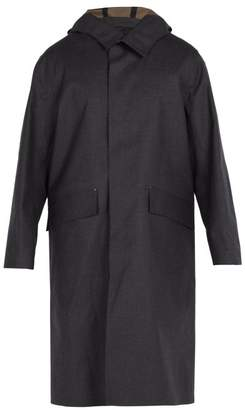 Mackintosh - Hooded Bonded Cotton Overcoat - Mens - Charcoal