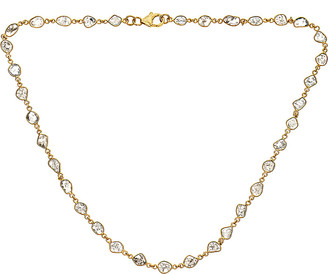 Forever Creations USA Inc. Forever Creations 18K Yellow Gold Over Silver 5.50 Ct. Tw. Diamond Necklace
