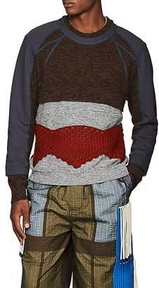 Craig Green Men's Hybrid Mixed-Stitch Sweater