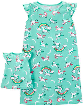 Carter's 2-Pk. Doll Unicorn Poly Sleep Gowns - Preschool Girls