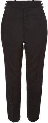 Haider Ackermann Cropped Wool Pants with Buttoned Ankles