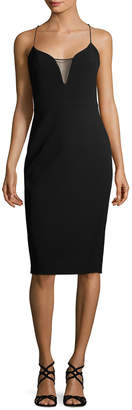 Victoria Beckham Sheer Insert Sheath Dress