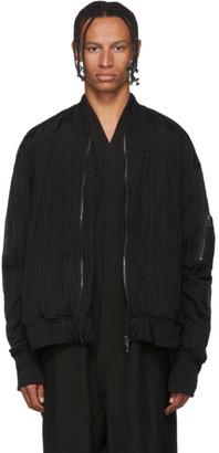 Julius Black Sheer Bomber Jacket