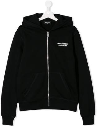 DSQUARED2 printed hooded jacket
