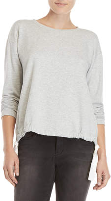 Vince Camuto Heather Grey French Terry Pullover
