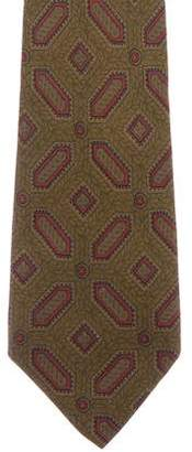 Calvin Klein Collection Geometric Print Silk Tie