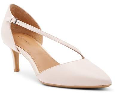 Calvin Klein Page Leather d'Orsay Pump