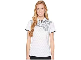 Callaway Lace Argyle Printed Polo Women's Sleeveless