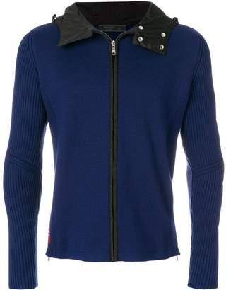 Prada knitted zip hoodie