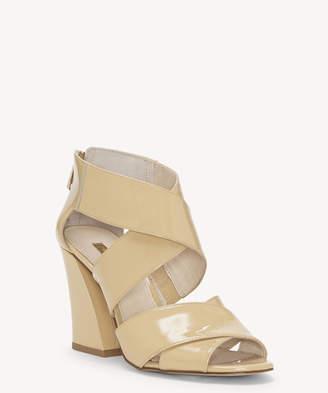 Louise et Cie Women's Kriztsa Block Heels Sandals Cremeux Size 5 Suede From Sole Society
