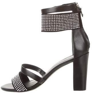 Rebecca Minkoff Stud-Embellished Ankle Strap Sandals