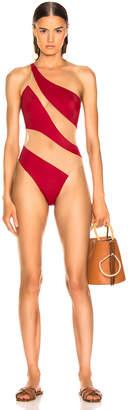 Norma Kamali for FWRD Snake Mesh Mio Swimsuit