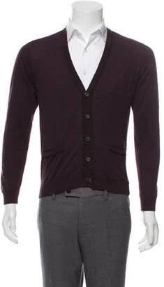 Lanvin Merino Wool Button-Up Cardigan