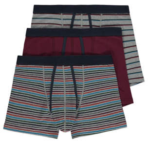 George Striped A Front Trunks 3 Pack