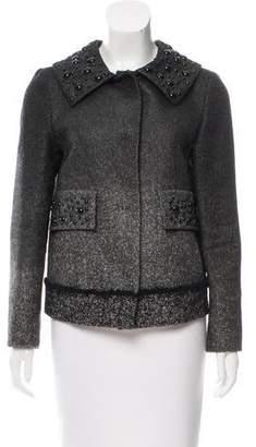Alberta Ferretti Coated Herringbone Jacket