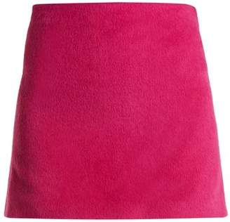 Helmut Lang Brushed Magenta 2000 Mini Skirt - Womens - Pink