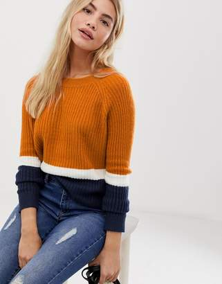 Only Nala retro sports colourblocking jumper