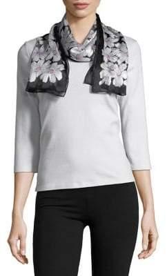 Lauren Ralph Lauren Floral Print Silk Scarf
