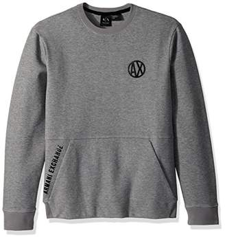 Armani Exchange A|X Men's Urban Pull Over with Crew Neck