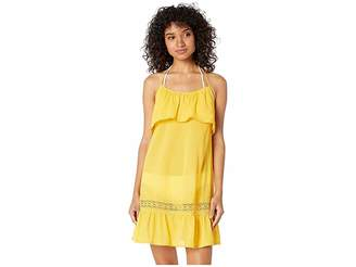 Kate Spade Grove Beach Ruffle Cover-Up Dress