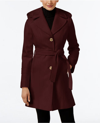 MICHAEL Michael Kors Wool-Blend Hooded Coat, Only at Macy's $275 thestylecure.com