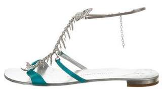 Giuseppe Zanotti Leather Fish Bone Sandals