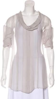Chloé Semi-Sheer Silk Blouse w/ Tags