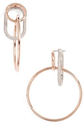 Women's Alexander Wang Triple Ring Pave Earrings $495 thestylecure.com