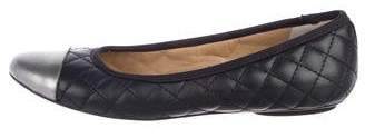 Neiman Marcus Leather Quilted Flats