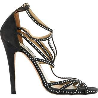 Jimmy Choo Grey Suede Sandals