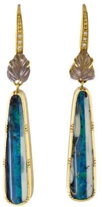 Brooke Gregson 18K Multistone Maya Leaf Drop Earrings