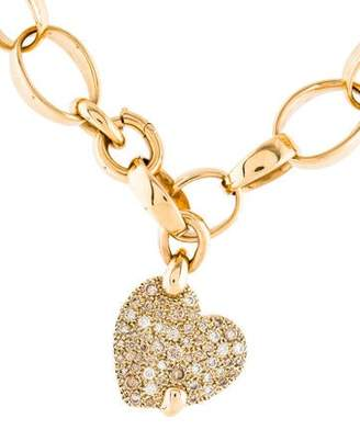 Pomellato Sabbia Diamond Heart Pendant Necklace