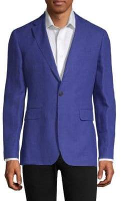 Burberry Slim Fit Linen Unlined Blazer