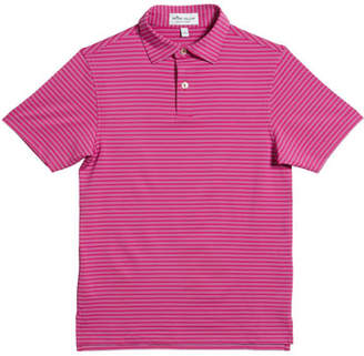 Peter Millar Boy's Stretch Stripe Polo Shirt, Size XS-XL